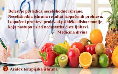 Asidox dijeta – ishrana po dijagnozama